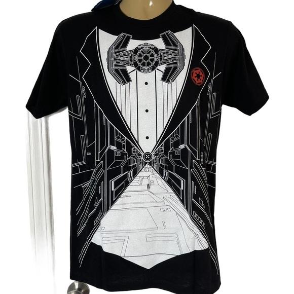 Star Wars Death Star Mens Tuxedo Shirt NWT